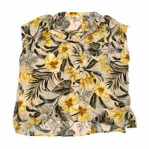 Old Navy Hawaiian Tropical Floral Blouse Top 1X